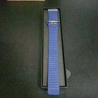 Apple Watch 42mm Blue Leather Band