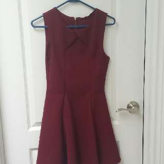Blue Notes Maroon Dress