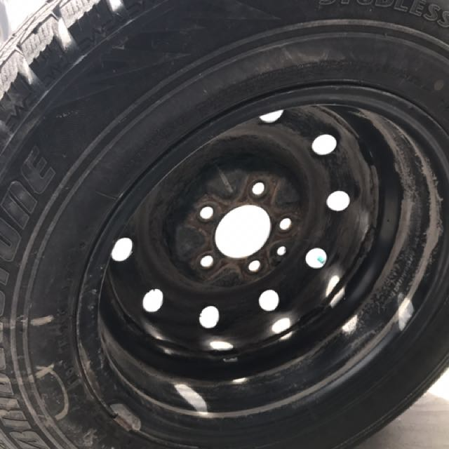 4 Winter Tires With Rim (made In Japan)