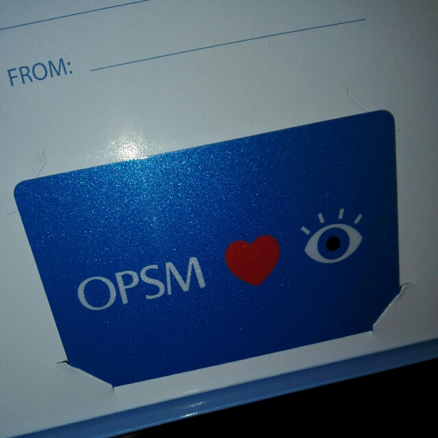 500$ OPSM Gift card