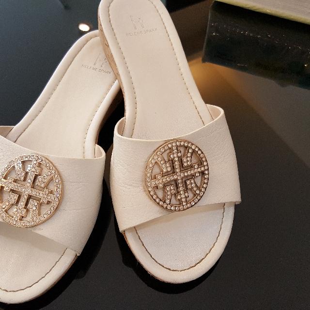 小羊皮水鑽拖鞋 36半碼約22.5-23可穿