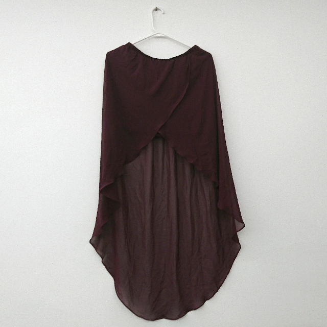 H&M雪紡前短後長裙