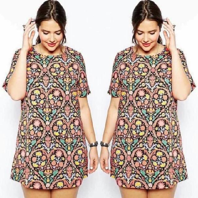 🌸 Minidress Floral Bigsize Dress