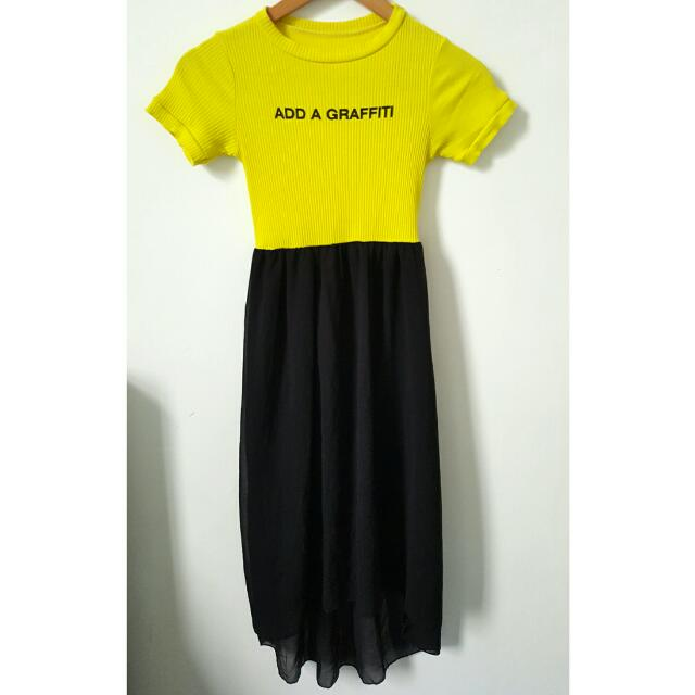REPRICED!!! ADD A GRAFFITI Dress