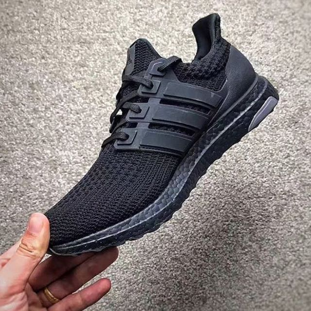 c668ee019 wholesale adidas ultra boost 4.0 triple black mens fashion footwear on  carousell 6bcc0 4c74f