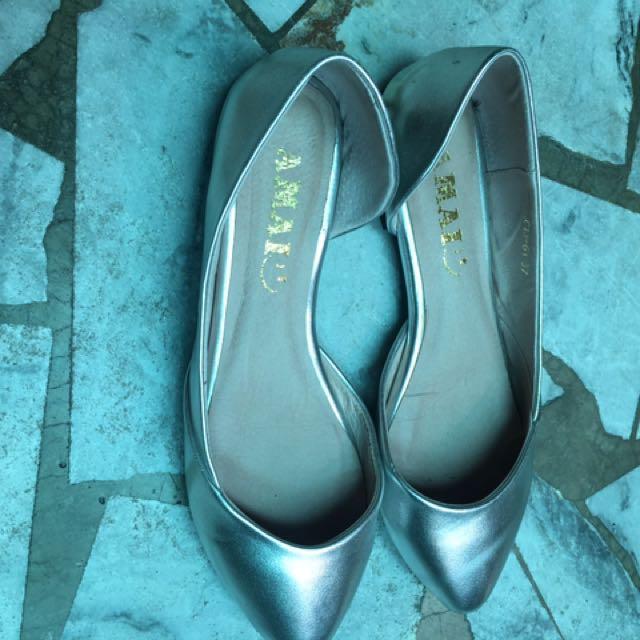 Amai銀色氣質包鞋