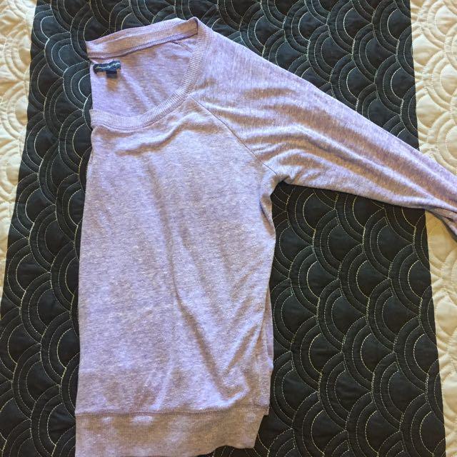 American Eagle Purple Long Sleeve Shirt