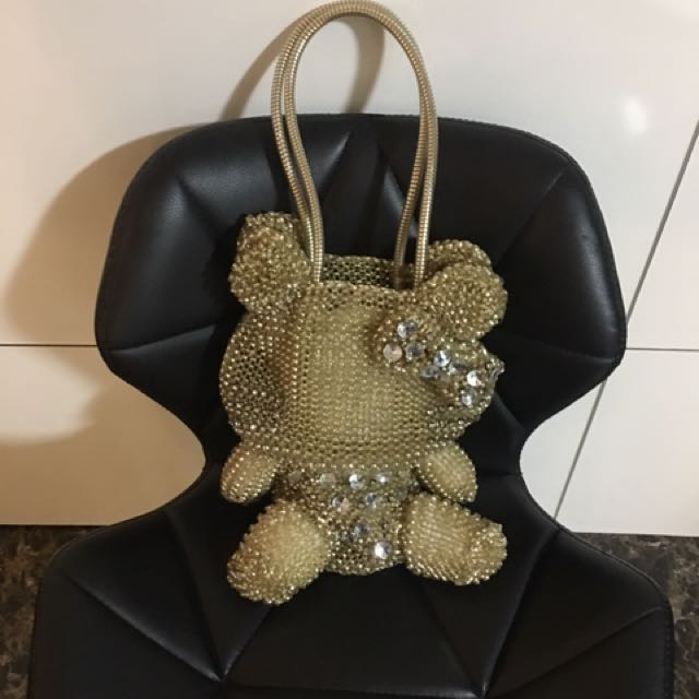 6c6ce45a2b Anteprima Look-alike Hello Kitty Wire Bag In Gold