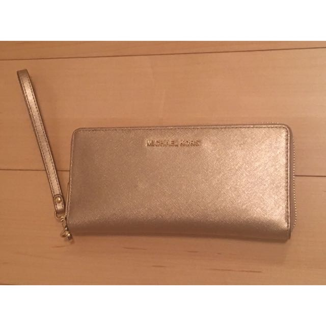 Authentic Michael Kors gold continental wallet