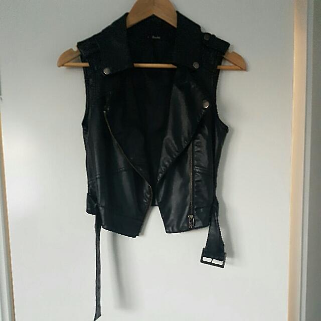 Bardot Leather Vest Jacket