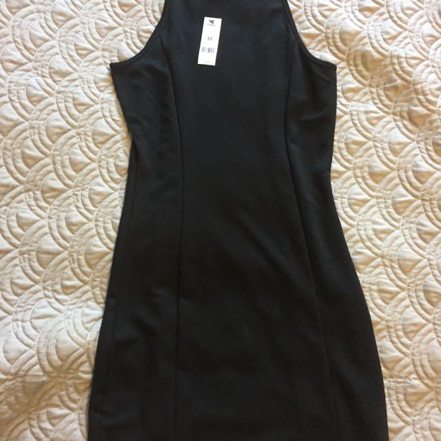Black Halter Bodicon Dress (Garage)