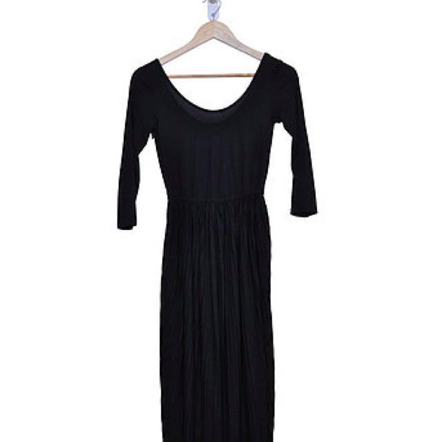 Black Midi Dress (8)