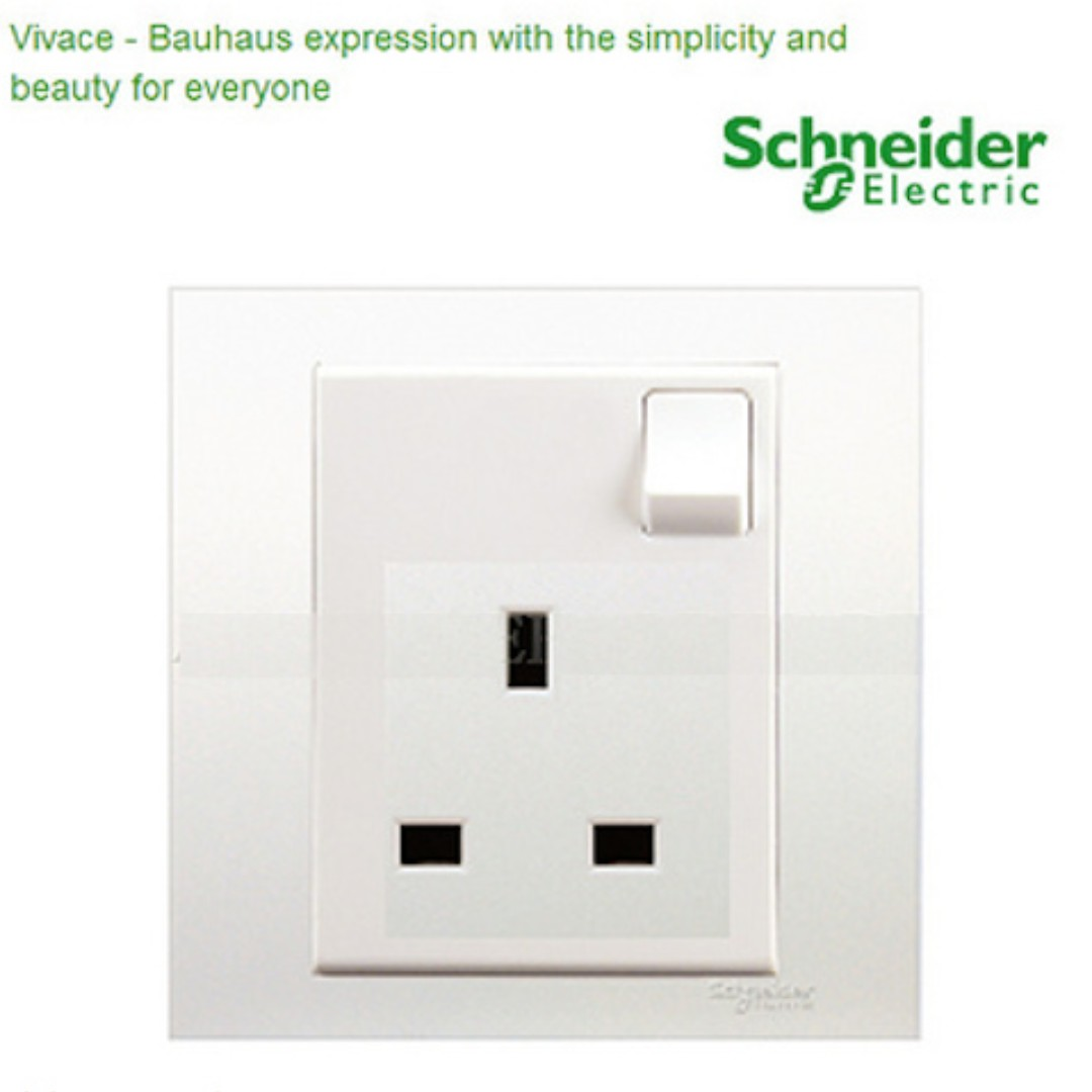 BN Schneider Vivace 13A 250V 1 Gang Switched Socket Online Purchase