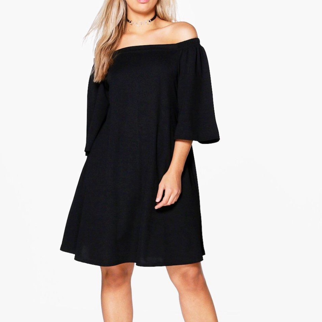 5cee3fac027a Boohoo – Off Shoulder Swing Dress, Women's Fashion, Clothes on Carousell