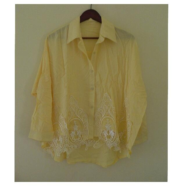 Sale! Brand New Plus Size Yellow Blouse 2XL To Semi 3XL