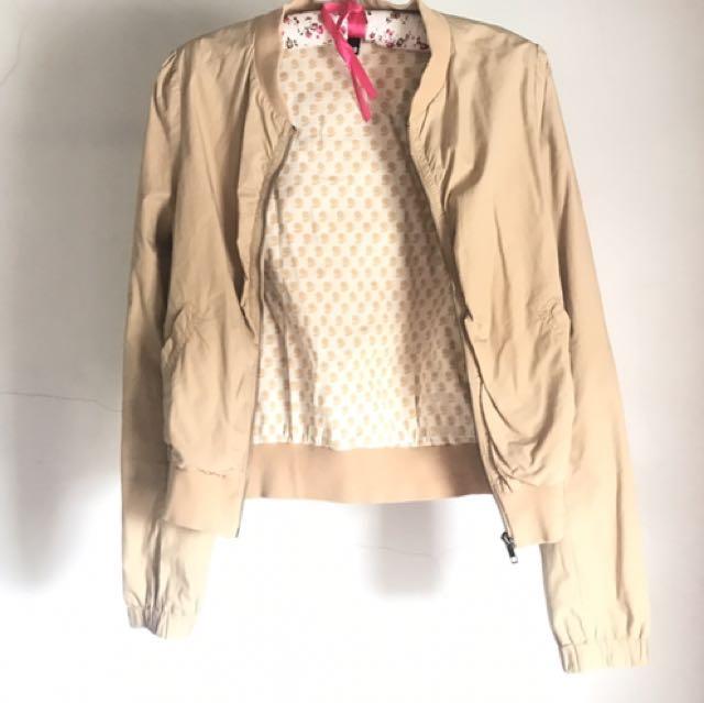 Cream Browny Jacket