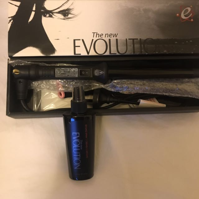 Curling Iron With A Heat Glove And Styling Spray