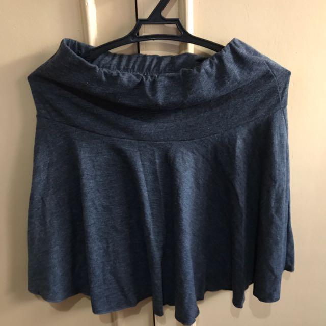 Dark gray skater skirt (S)