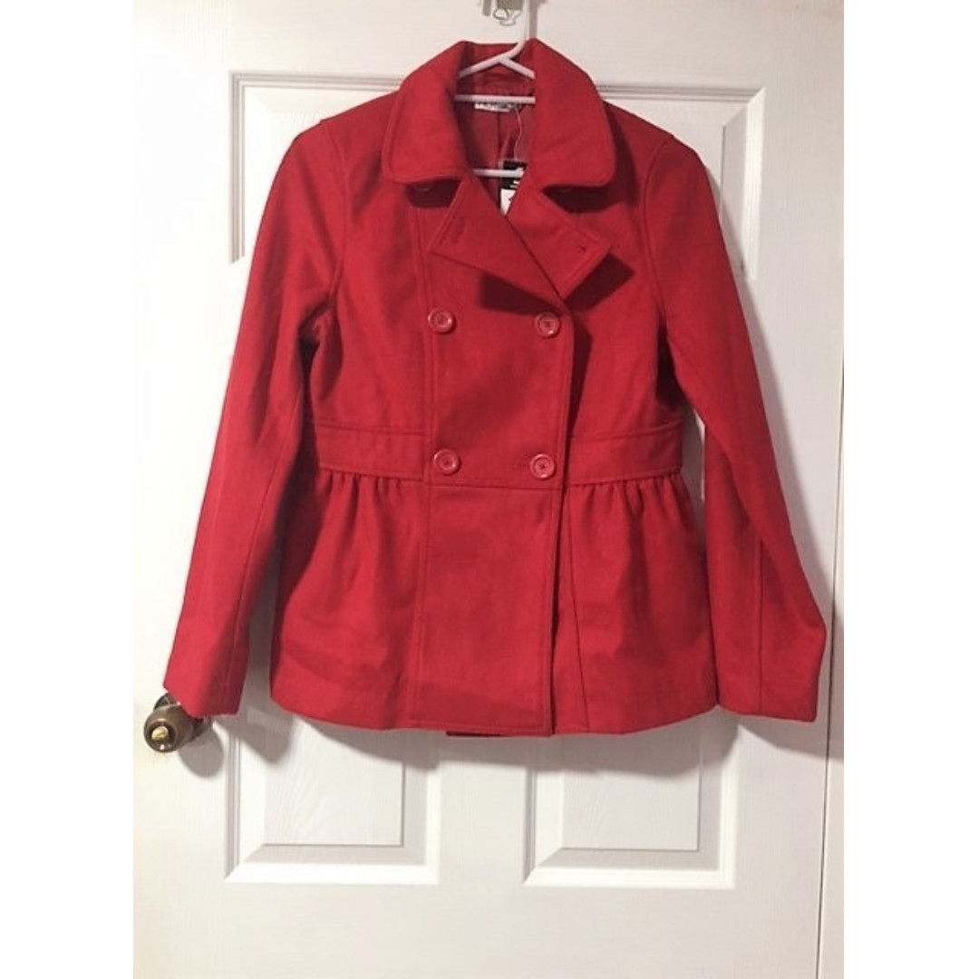 Double Breasted Coat - Red