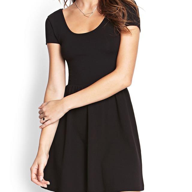 Forever 21 Black Fit & Flare Dress