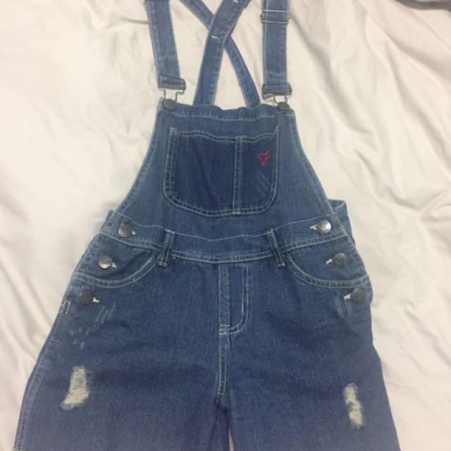 Forever 21 Denim Jumper Shorts