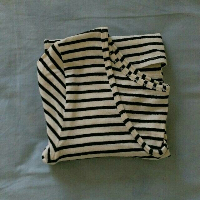 Forever 21 Stripes Low Back 3/4 Sleeve Top