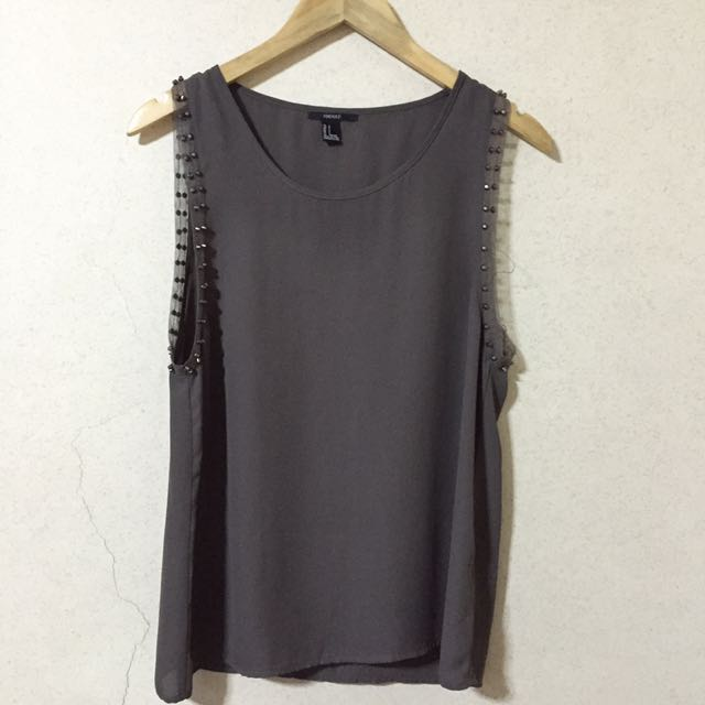 Forever 21 Studded Sleeveless Top
