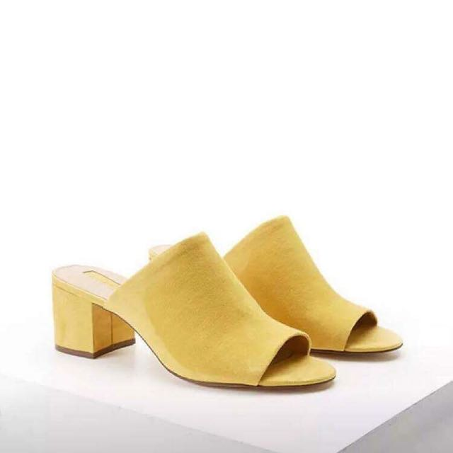 Forever 21 Yellow Mules