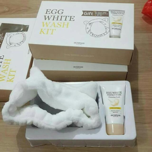 SKINFOOD Egg White Wash Kit