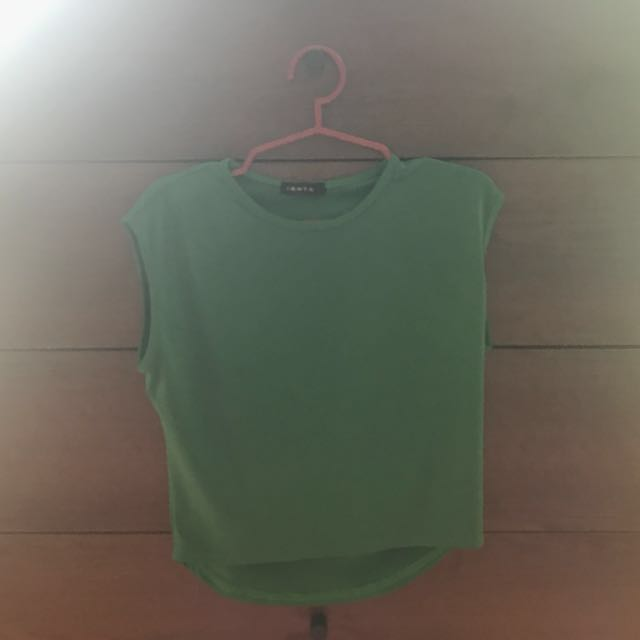 Green Cropped Top Ishta