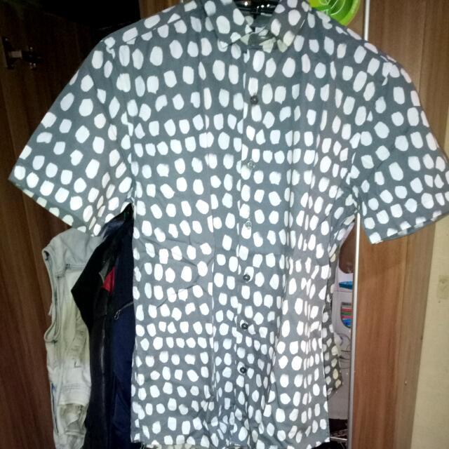 Topman Grey & White Shirt