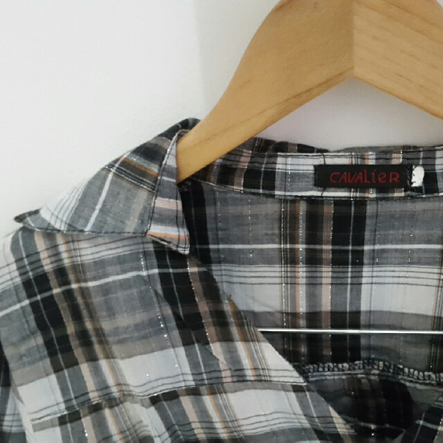 Grey Cavalier Cropped Shirt