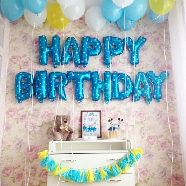 happy birthday letter balloons design craft handmade goods accessories on carousell