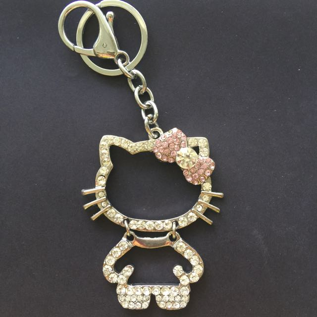 Hello Kitty Bedazzled Keychain