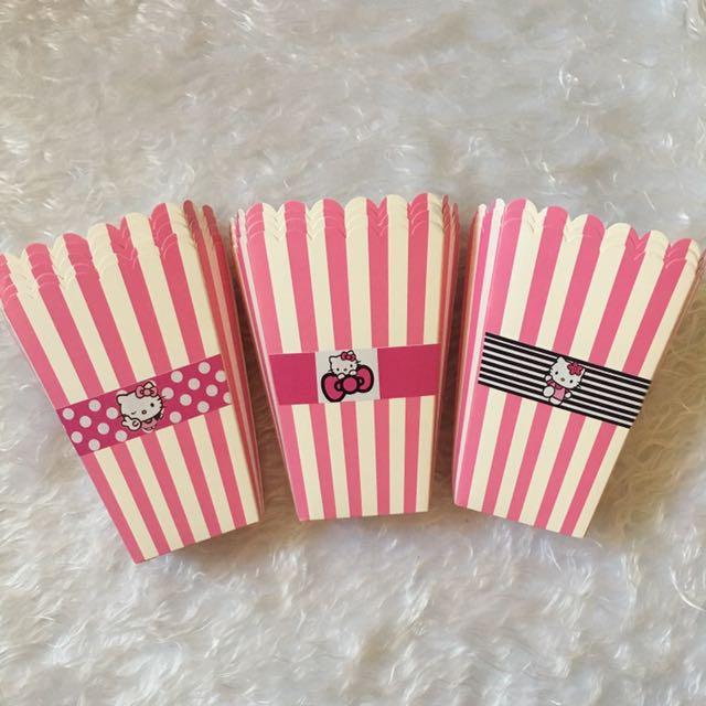 Hello kitty Popcorn Boxes (10pcs, Free 3 Pcs)