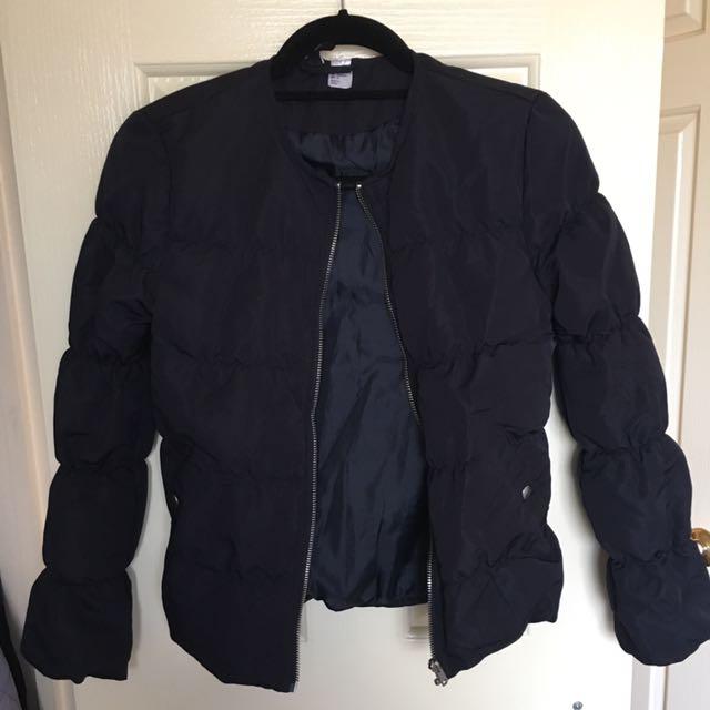 H&M Navy Puffer Jacket -size 6