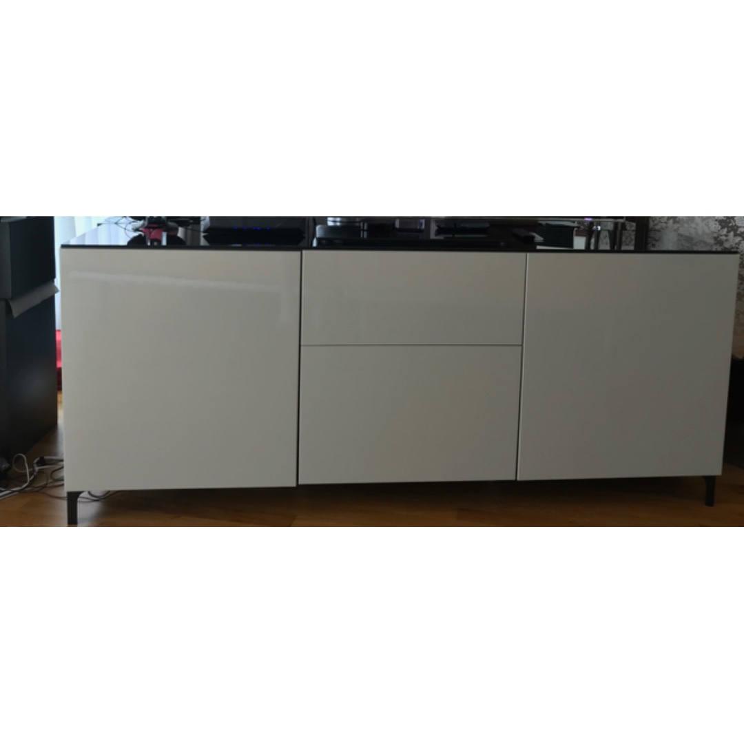 ikea besta tv sideboard, furniture, shelves & drawers on carousell
