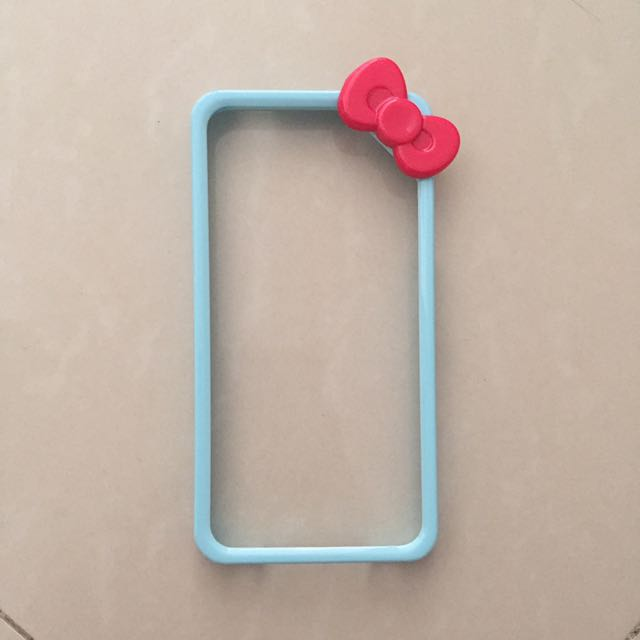 Iphone 4 Bumper Case Mobile Casing Hello Kitty Blue