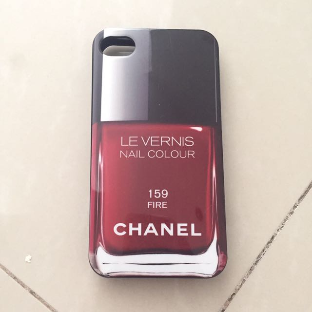 Iphone 4 Phone Case Casing Chanel Vernis Red