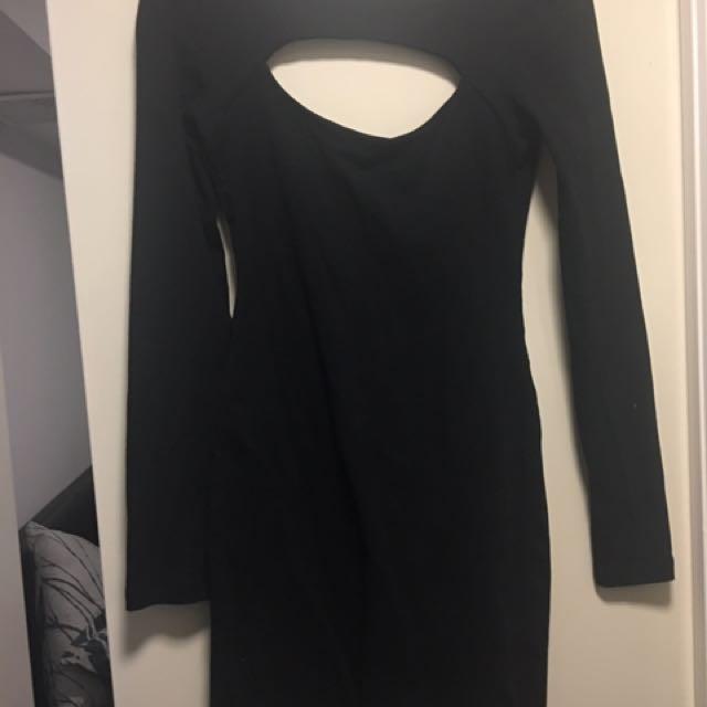 Kookai Cut Out Black Dress Size 2