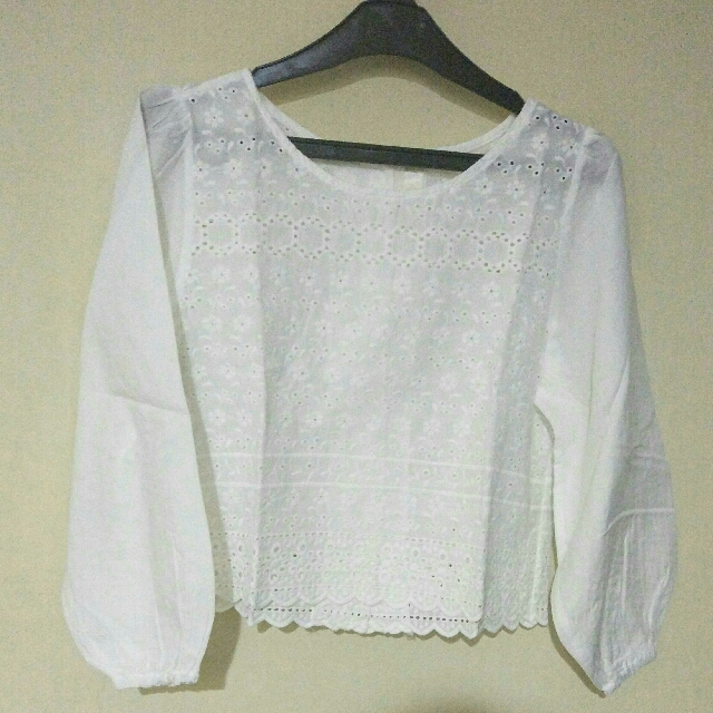 Lace Crop Top (Long Sleeves)