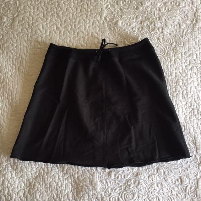 Le Tigre Black Drawstring Skirt