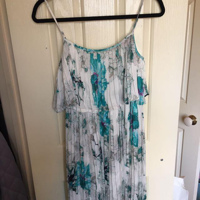 Leona Edmiston Pleat Maxi Dress -size 6