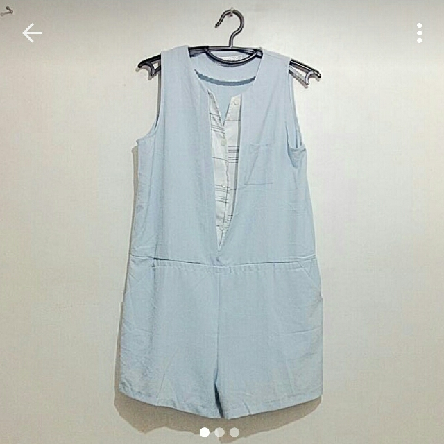 Light Blue Jumpshorts/Romper