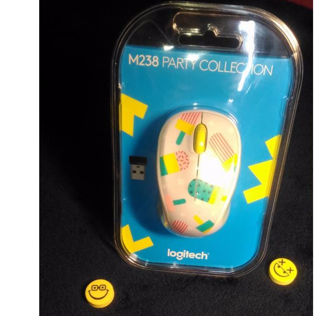 Logitech Wireless Mouse M238 Party Collection Flamingo Daftar Toucan Popsicle