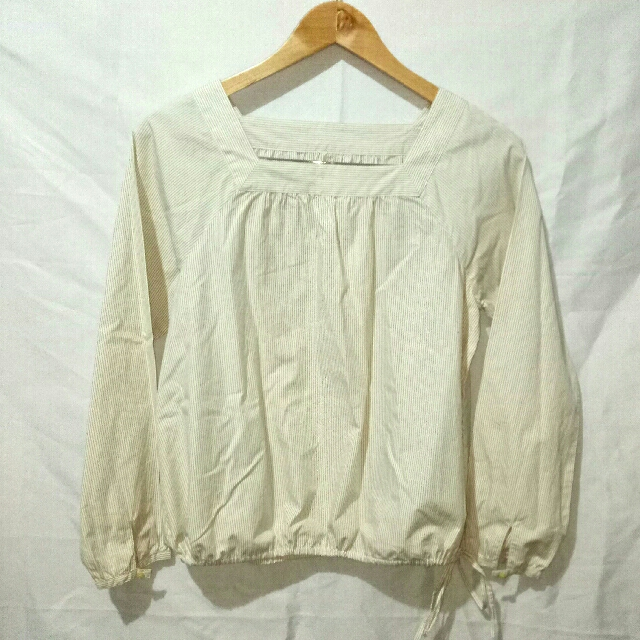 Long Sleeves Top (Small Stripes)