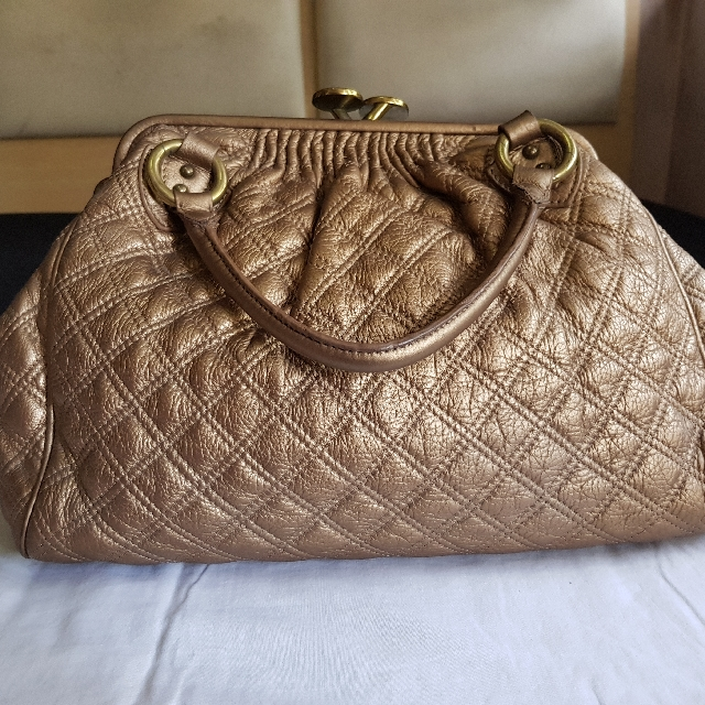 Marc Jacobs Stam Bag In Bronze