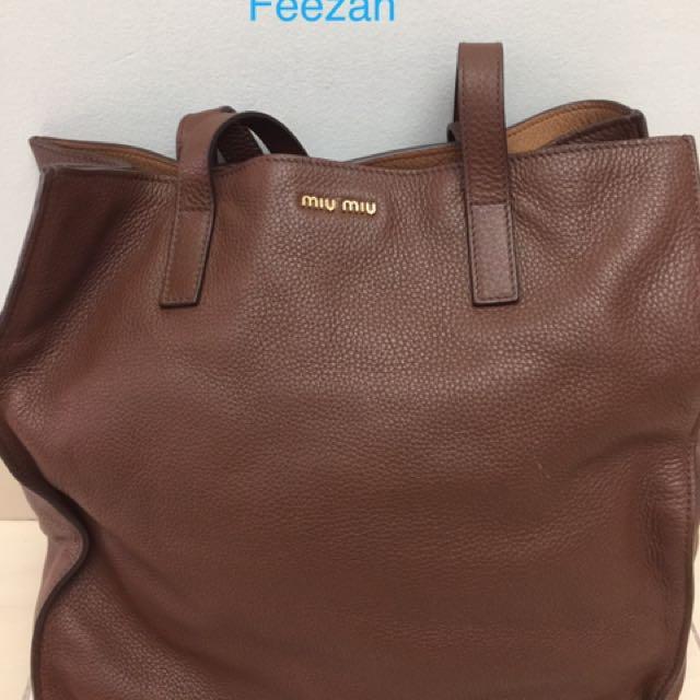 9e066c2e83ad Miu Miu Shopping Tote Bag