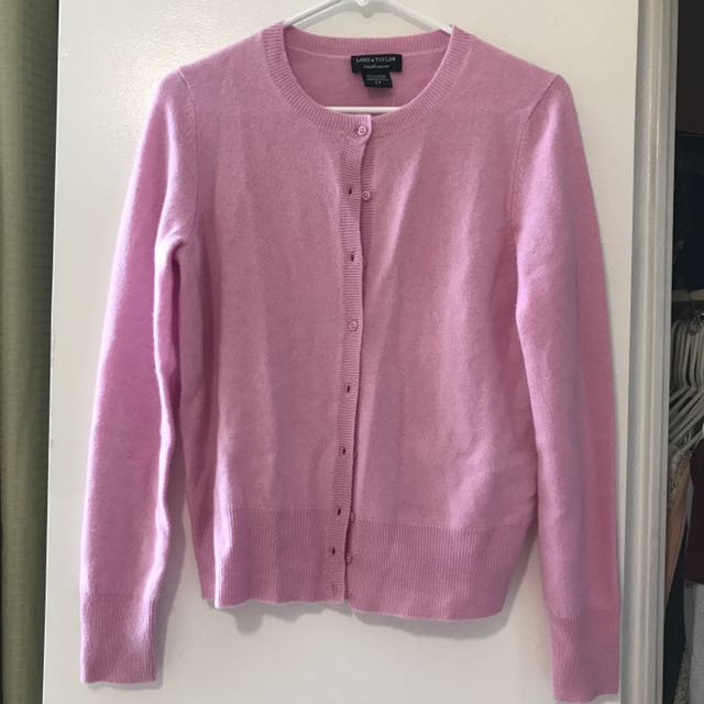 New Lord & Taylor 100% Cashmere Cardigan