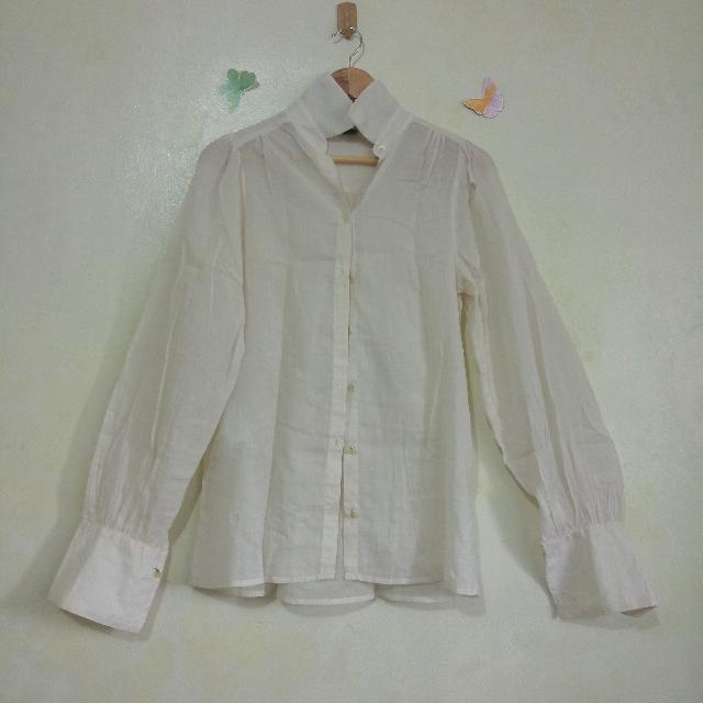 Nude / Beige Mango Long Sleeves Blouse